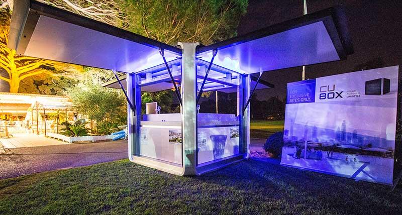 Cubox ביתן סולארי נייד